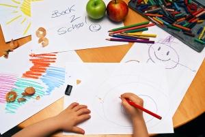 vuelta al cole dibujar niños