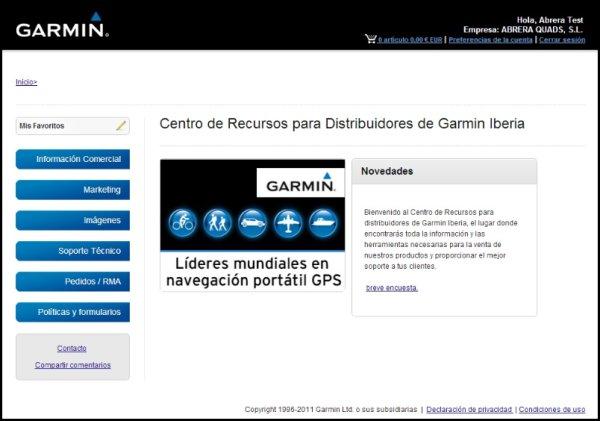 Centro Recursos Distribuidores Garmin