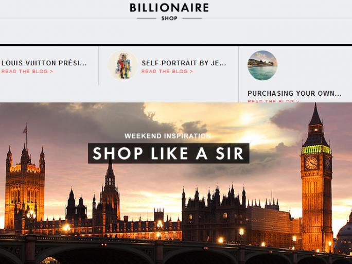 the billionaire shop