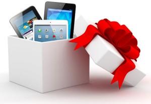 Navidad regalo tablet