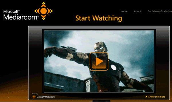 Microsoft Mediaroom pantalla