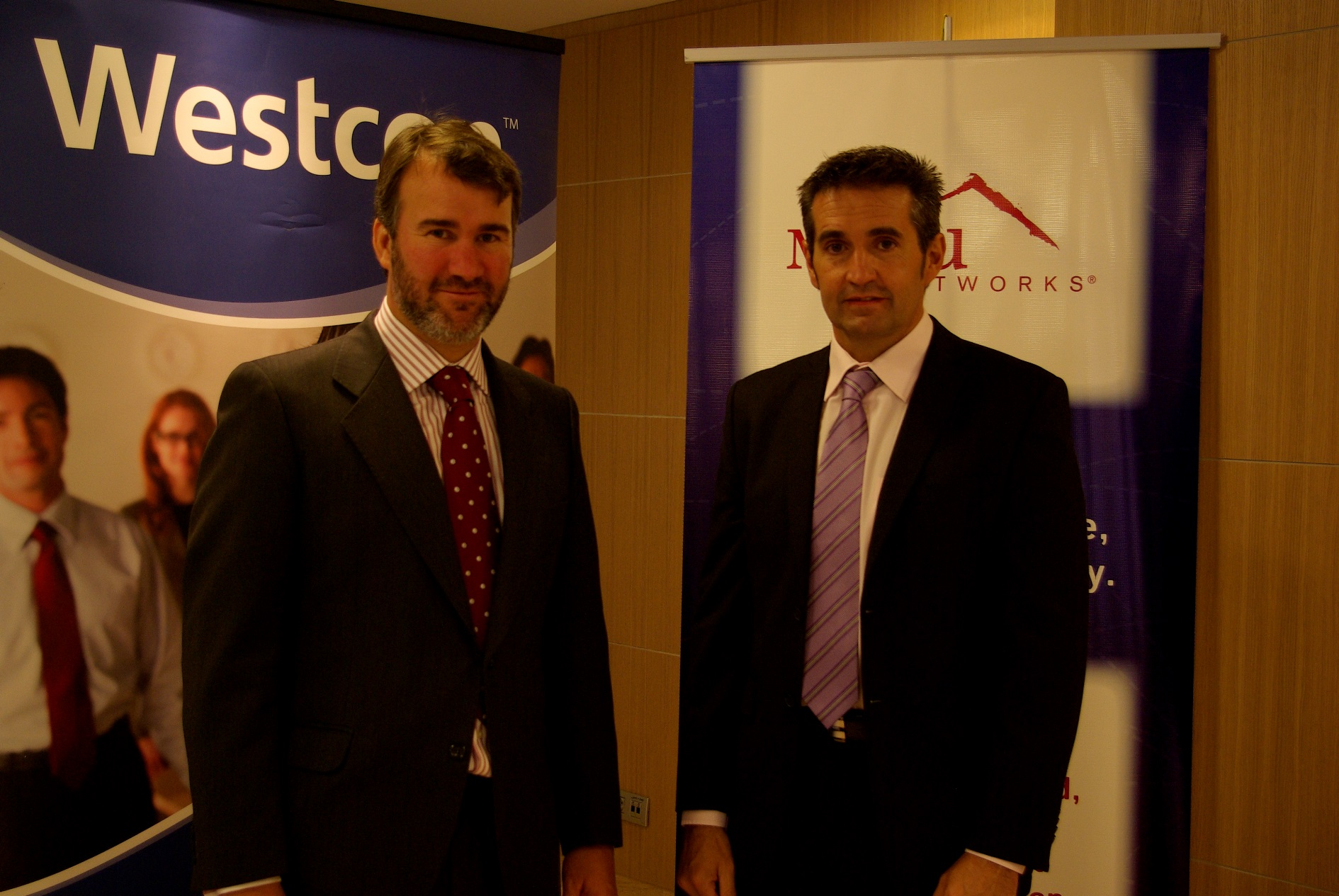 Javier Gómez, Director para las regiones de LATAM y Mediterráneo de Meru Networks y Borja Moreno, General Manager Westcon Iberia