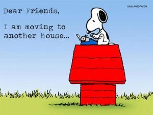 Imagen publicada por Chuck Hollis en su blog que dice: 'queridos amigos, me mudo a otra casa'.