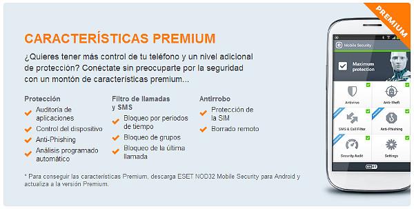 ESET NOD32 Mobile Security para Android premium