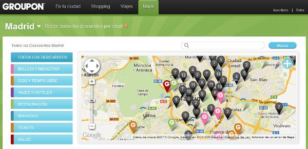 Groupon maps