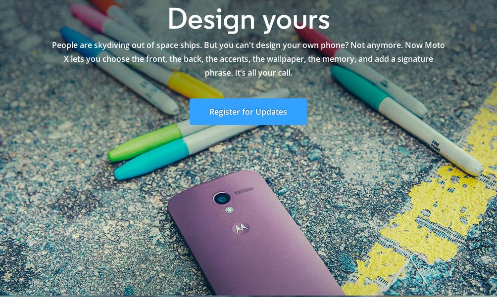 La mayor novedad del Moto X es que el usuario puede diseñarlo a su gusto.