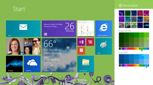 La pantalla de Inicio de Windows 8.1 será más personalizable.