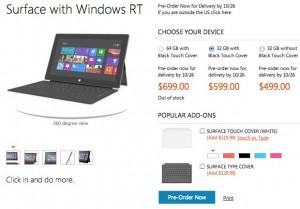 Microsoft quiere captar la atención de los compradores reduciendo el precio de su Surface.