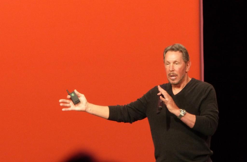 Larry Ellison, CEO de Oracle, fue el encargado de inaugurar el OpenWorld, que reunió a más de 60.000 visitantes de todo el mundo.