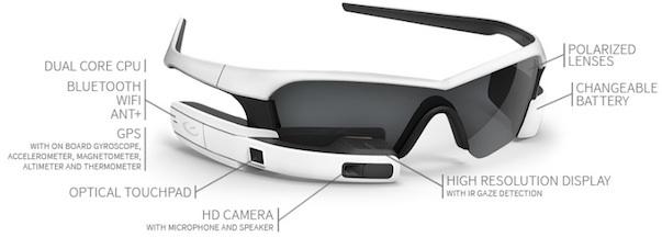 """Prototipo del ReconJet, rival en el mercado de las Google Glass, en el que Intel ha realizado una inversión """"significativa"""""""