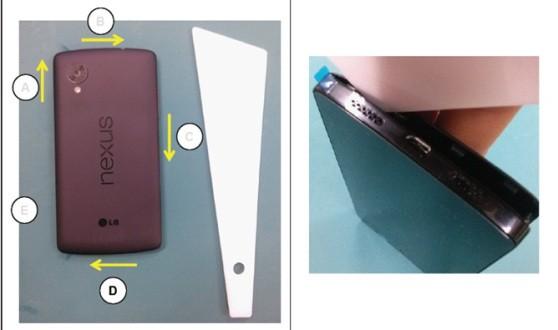 Imágenes indicativas de cómo podría ser el Nexus 5, según un manual filtrado en Internet.