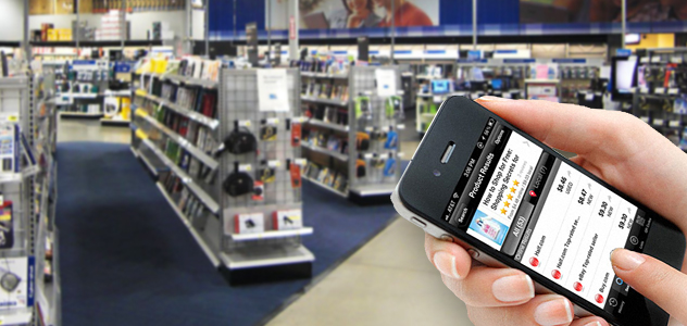 Muchos usuarios compran productos a través de sus móviles en otra tienda diferente a la que están.