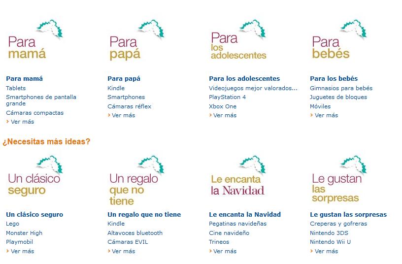 La nueva tienda de Navidad de Amazon ofrece secciones diferentes adaptadas a este periodo del año.