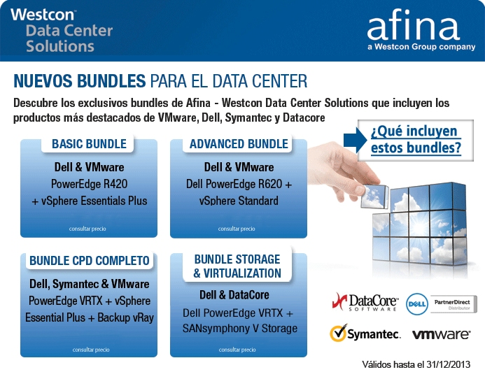Promociones 'Bundle Data Center' de Afina para sus socios que vendan servicos y productos de Dell.