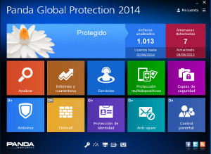 panda Global Protection pantalla