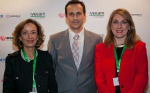 Representantes de Abast, SCC e Inforein, las tres compañías premiadas en el Partner Summit de Veeam,