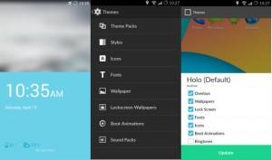Interfaz del CyanogenMod 11S, el sistema operativo basados en Android 4.4 KitKat que utiliza el OnePlus One.