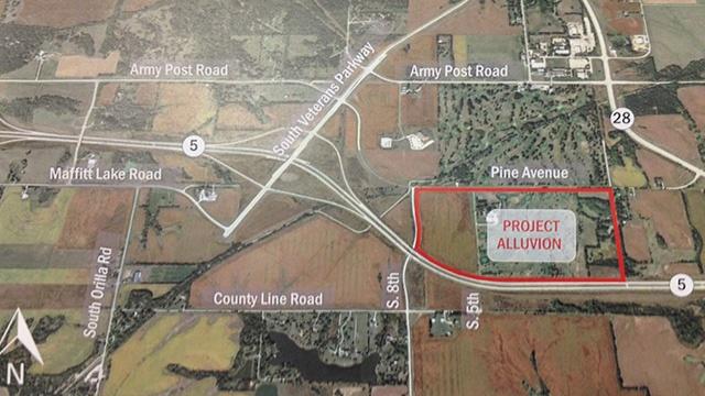 El centro de datos de Microsoft se situará al oeste de Des Moines. Plano del proyecto.