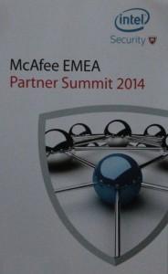 McAfee EMEA partner Summit 2014 vertical