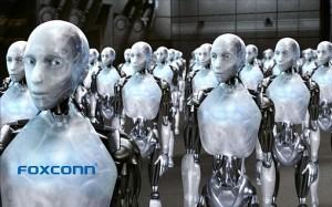 Robots comprados por Foxconn para ensamblar los nuevos modelos del iPhone.