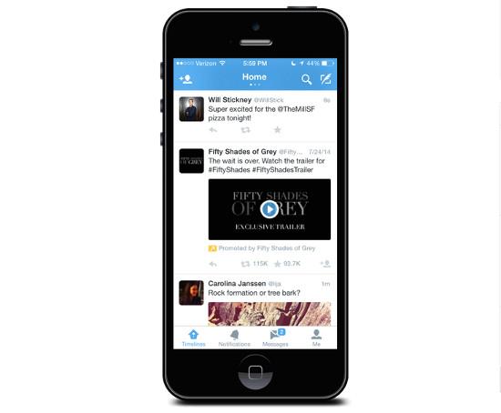 Twitter video publicitario