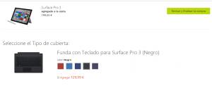 La Surface pro 3 ya se puede encargar a través de la tienda online oficial de Microsoft