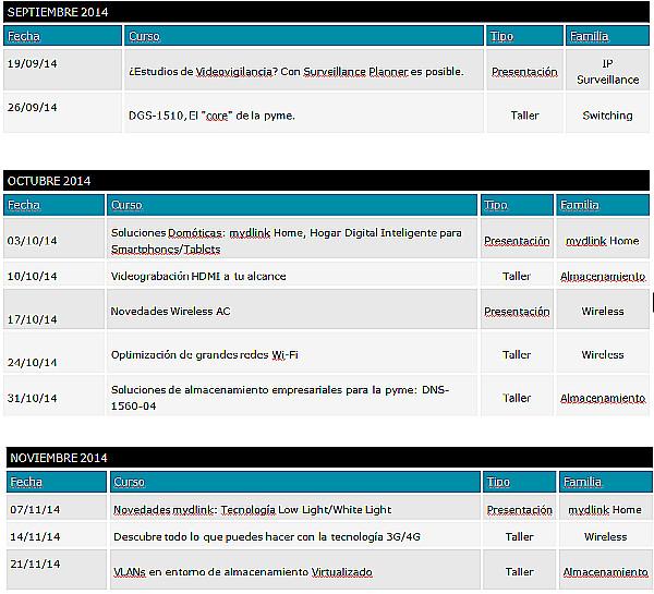 D-Link Webinars agenda