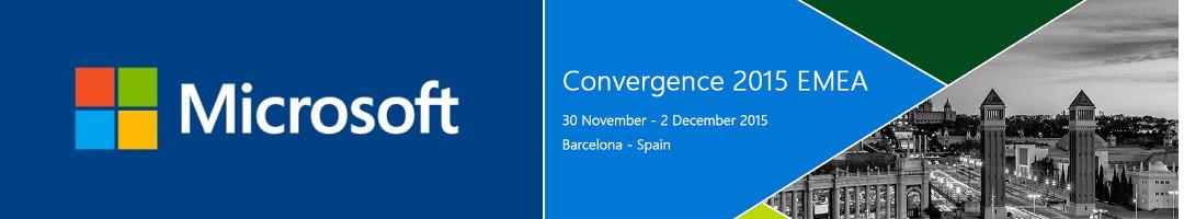 Microsoft Convergenced EMEA 2015