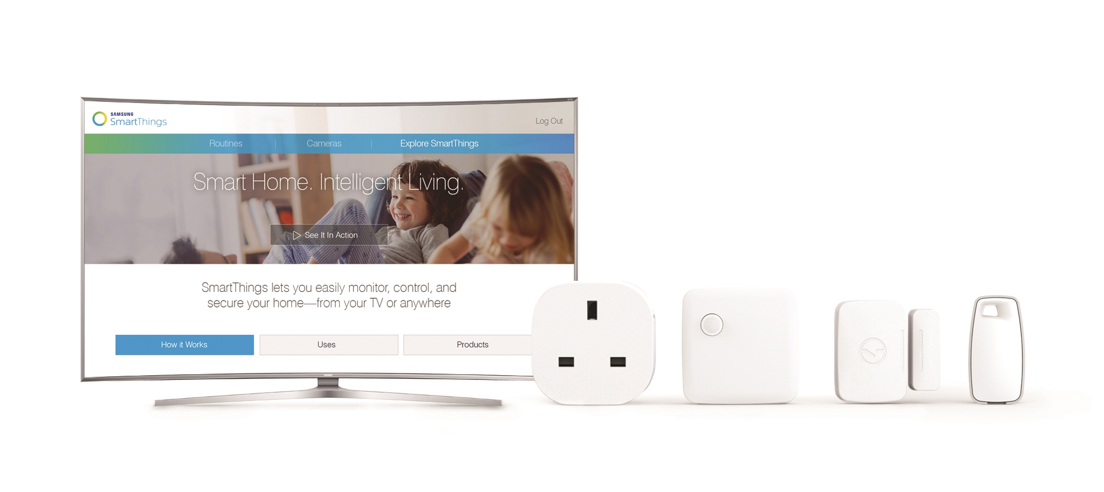 samsung smart tv  SmartThings.
