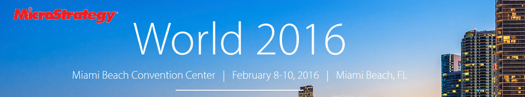 MicroStrategy World 2016