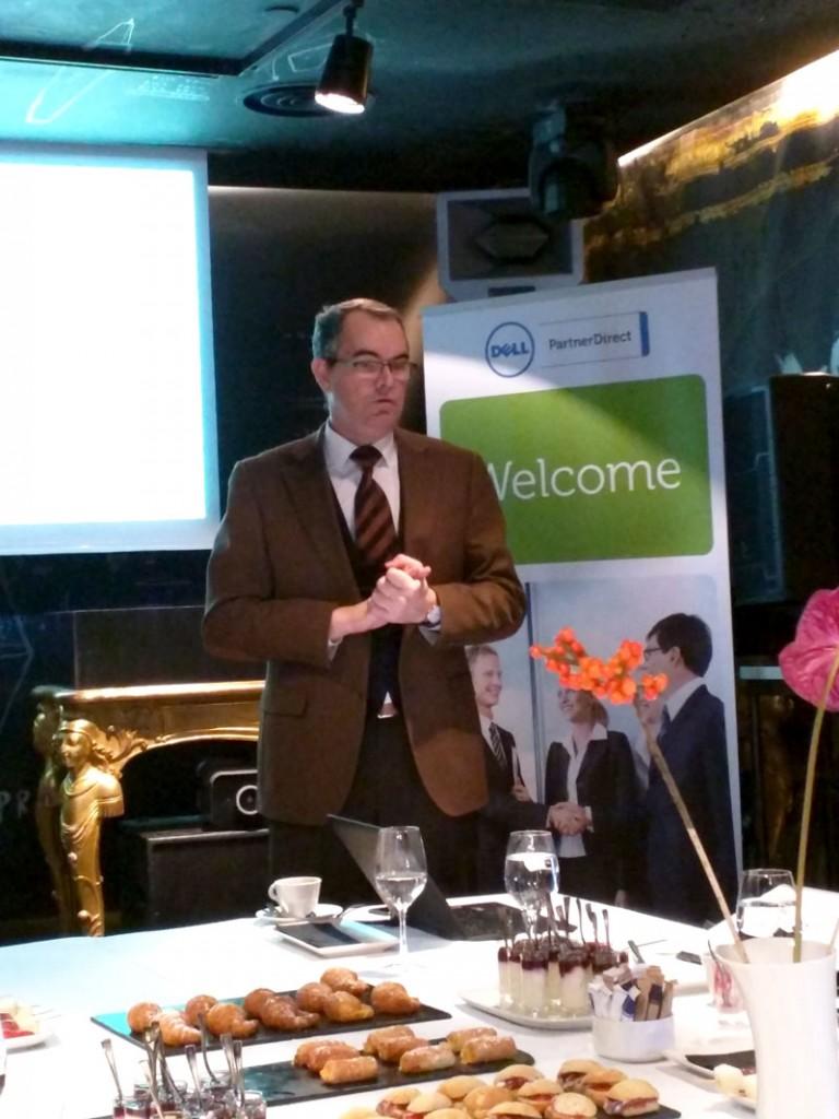 Juan Antonio del Rio, director de canal de Dell España, durante el encuentro con la prensa