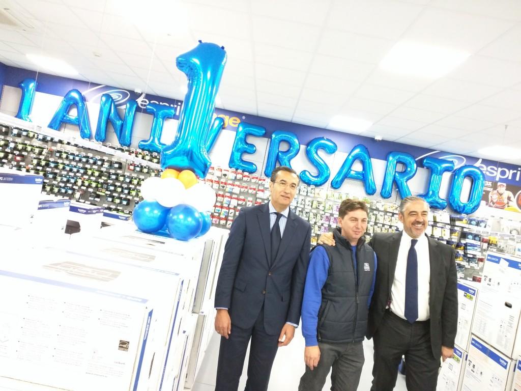 Los responsables del establecimiento de Esprinet en Alcobendas