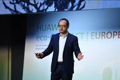 Vincent Pang, presidente de Huawei para Europa occidental durante Huawei eco-Connect Europe 2016.