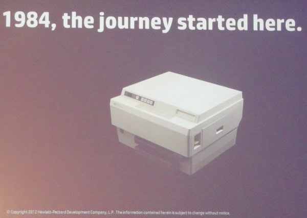 El viaje de HP en el mercado de impresión empezó...