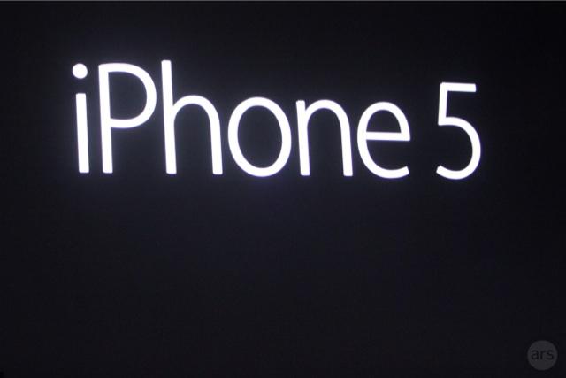 iPhone 5.  Imagen de Ars Technica